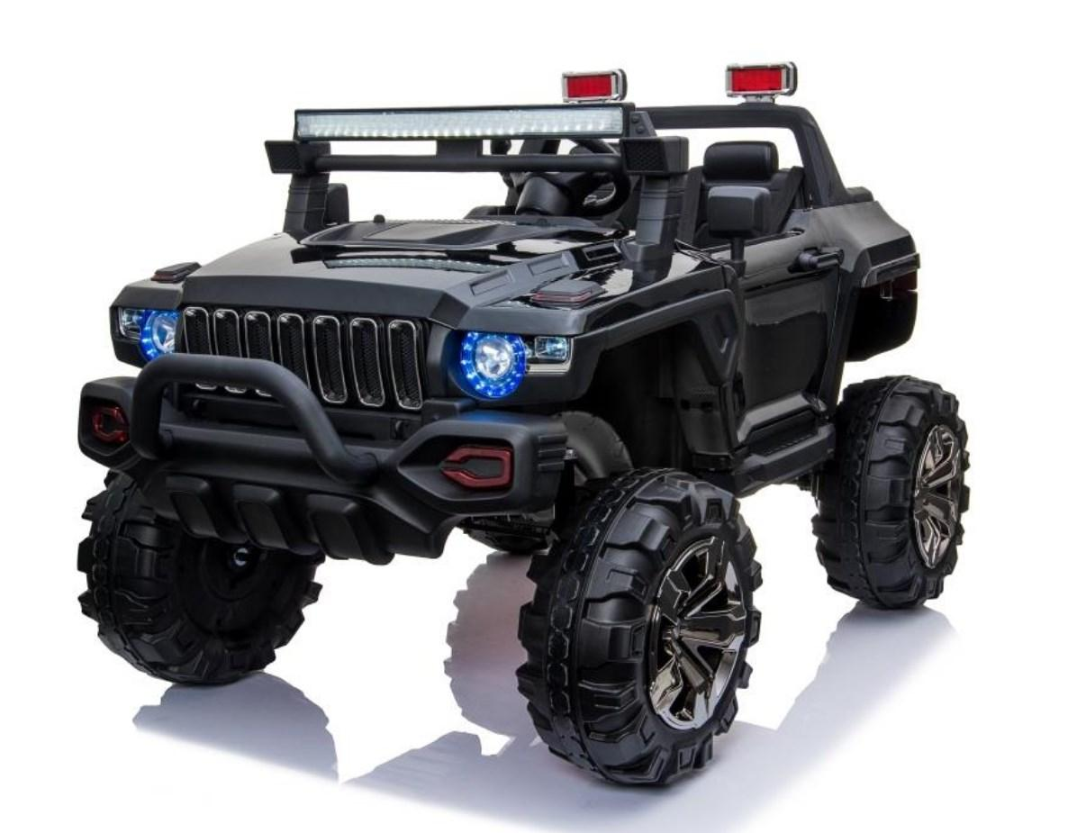 Детский электромобиль T-7837 Black, Jeep, черный