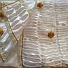 Ритуальный Комплект Гвоздика с накладными цветами атлас.