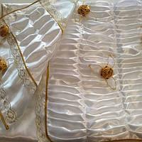 Ритуальный Комплект Гвоздика с накладными цветами атлас., фото 1