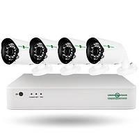 Комплект видеоконтроля (4 уличных видеокамеры) GREEN VISION GV-K-S13/04 1080P, фото 1