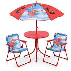Детский столик Spider Man с зонтом 93-74-SP со стульчиками