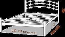Кровать металлическая МАРГАРИТА  ТМ МЕТАЛЛ-ДИЗАЙН, фото 2
