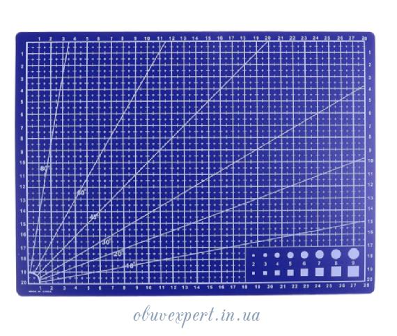 Коврик разметочный А4, для раскройки кожи и ткани ( 30*22 см)