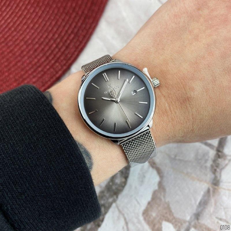 Часы женские Naviforce NF3012L Silver-Black