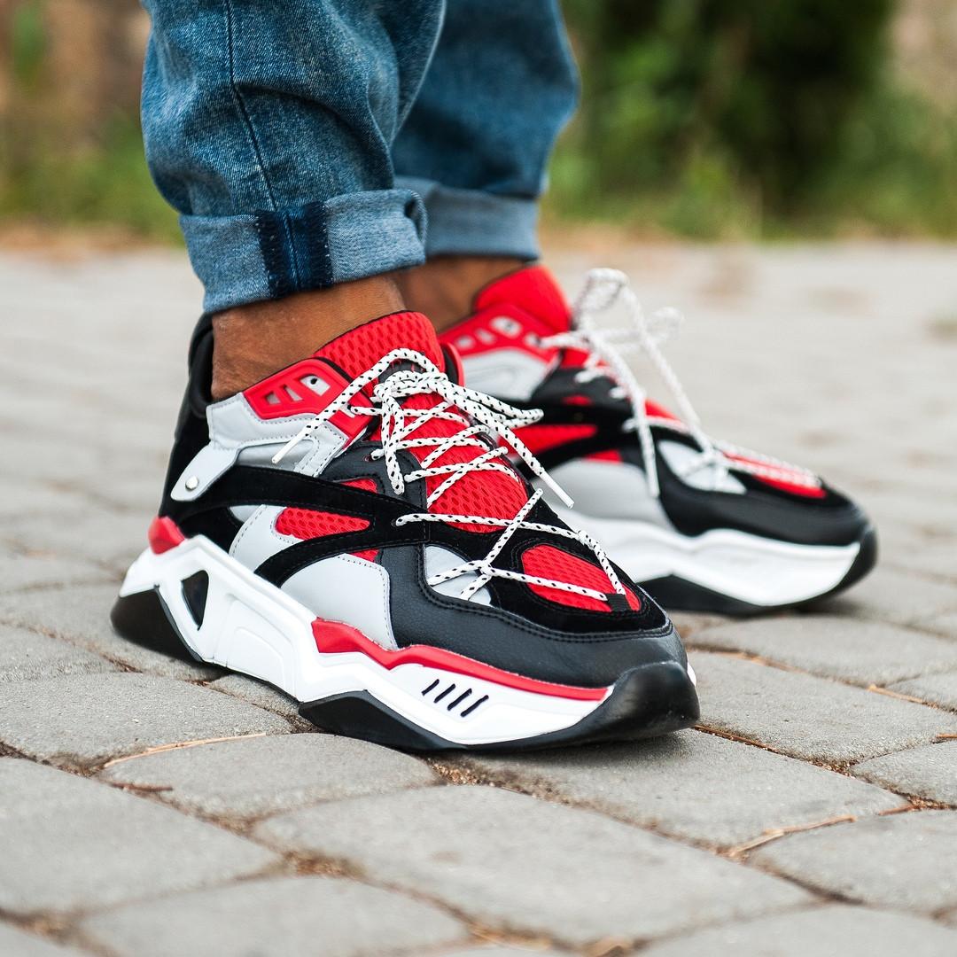 """Кроссовки Nike Retro IXI """"Красные / Черные / Белые"""""""