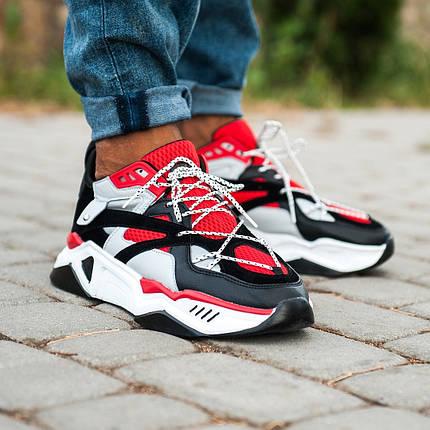 """Кроссовки Nike Retro IXI """"Красные / Черные / Белые"""", фото 2"""