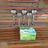 5 шт. Садовые фонарики на солнечной батарее 43 см. (нерж. сталь), фото 2