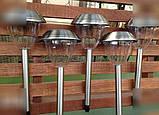 5 шт. Садовые фонарики на солнечной батарее 43 см. (нерж. сталь), фото 4