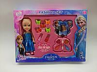 Косметика Детская Frozen с куклой Эльзой, набор заколок в коробке, фото 1