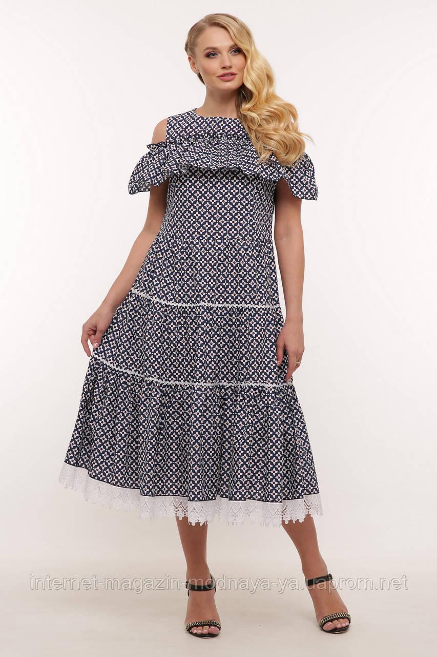 Платье женское с кружевом Таяна р. 48-54