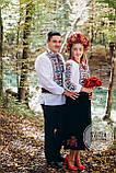 """Чоловіча сорочка з вишивкою хрестиком в етно стилі """"Квіти в золоті"""", фото 2"""