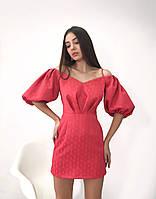 Коктейльное женское платье длиной мини, фото 2