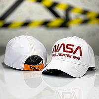 Кепка мужская NASA x white | бейсболка ЛЮКС, фото 1