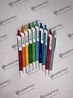 Ручки цветные пластиковые с белым широким клипом, фото 1