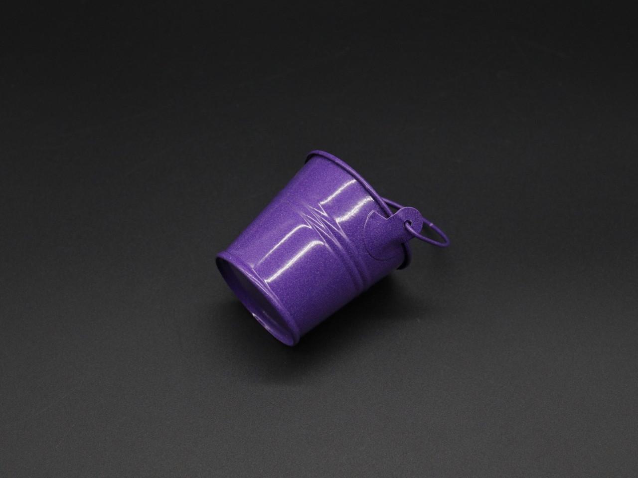 Декоративное металлическое ведро. Цвет фиолет. 6см