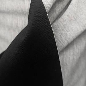 Трикотаж дайвинг неопрен двусторонний черный с серым