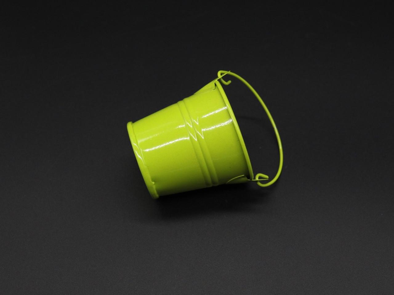 Декоративное металлическое ведро. Цвет салатовый. 6см