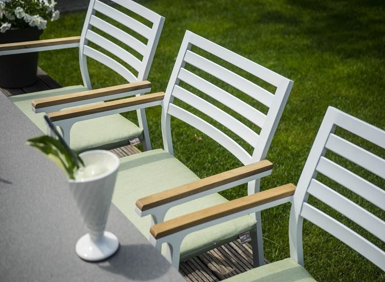 Обеденное кресло  SAVONA   алюминий