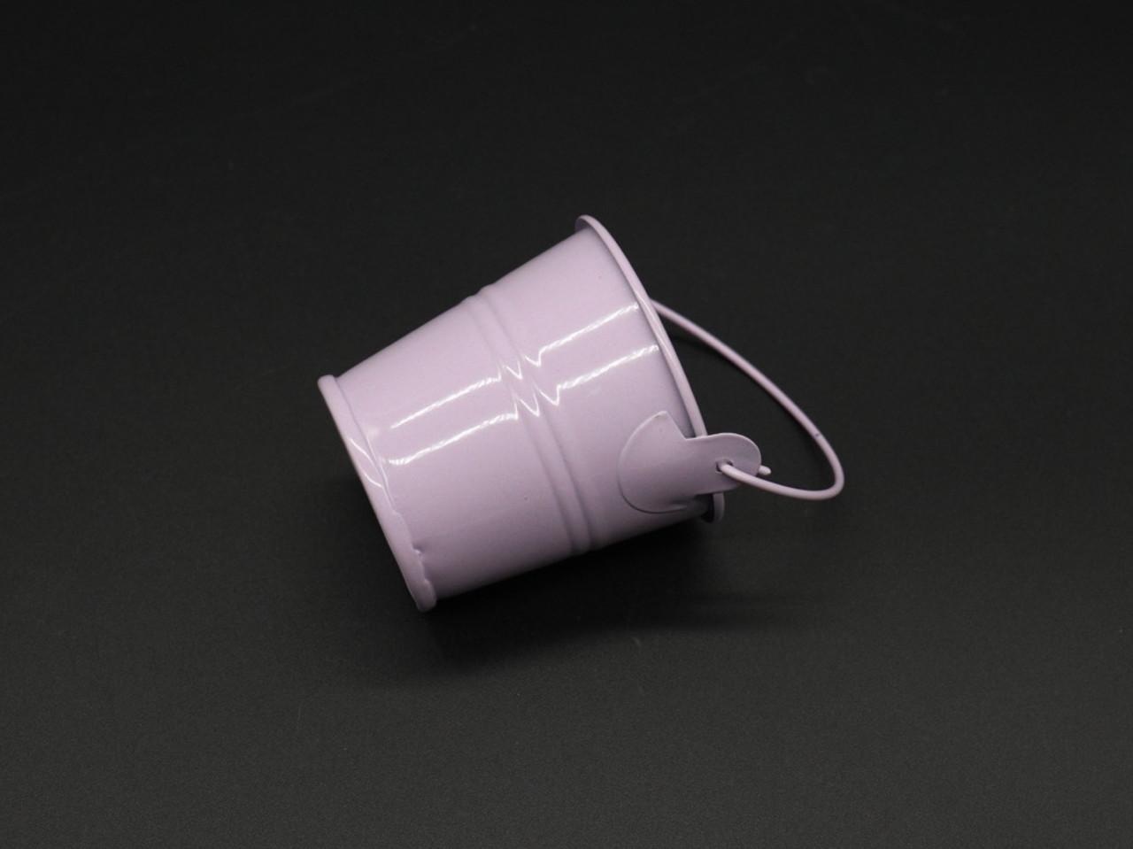 Декоративное металлическое ведро. Цвет сирень. 6см