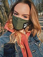 Защитная маска для лица внутри прослойка внешняя сторона трикотаж маска многоразовая