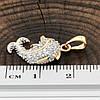 Кулон Xuping с родированием для цепочки до 3 мм 80239 размер 25х14 мм куб.цирконий вес 1.3 г позолота 18К, фото 3