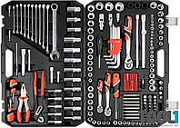 Большой набор инструментов для авто в чемодане 225 ед Yato YT-38941