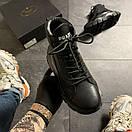 Prada Black Milano Sneakers Block, фото 3