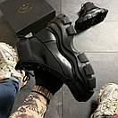 Prada Black Milano Sneakers Block, фото 7