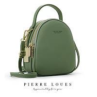 Женская модная молодежная сумка - рюкзак 2 в 1 Forever Young зеленая