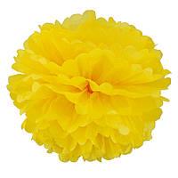 Декор бумажные Помпоны 20см (желтый), фото 1