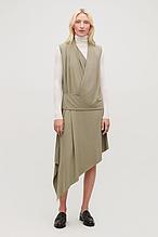 Жіноче плаття асиметричне оливкова COS