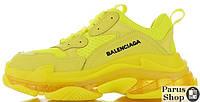 Мужские кроссовки Balenciaga Triple S Yellow Clear Sole