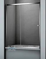 Штора на ванну раздвижная Ko&Po170х140 матовое стеклянное ограждение для ванны серый профиль две секции