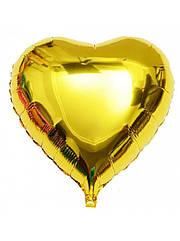 Шарик (45см) Сердечко золотое