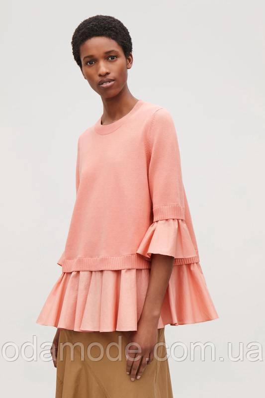 Женская блуза розовая летняя COS