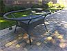 Стол плетенный овальный садовый