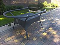 Стол плетенный овальный садовый, фото 1