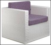Кресло плетенное из техно-ротанга