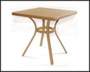 Столик для кафе плетеный  800х800х750мм