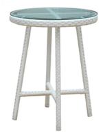 Столик круглый плетенный из ротанга садовый, фото 1