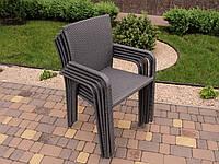 Садовое плетенное кресло из искусственного ротанга, фото 1