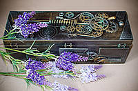 Короб для вина в стиле лофт ′Mechanical box′