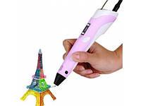 Ручка для рисования 3D Pen-2 c LCD дисплеем розовая