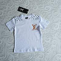 Детская белая футболка Louis Vuitton, фото 1