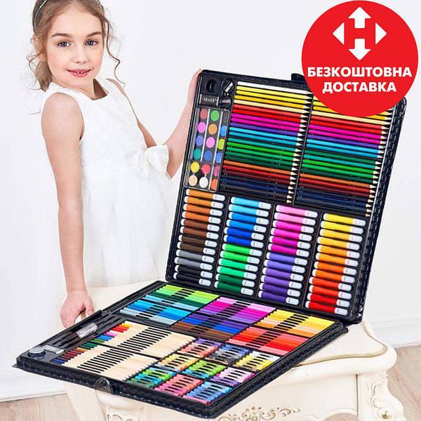 Набор для рисования на 258 предметов! Большой художественный набор для рисования в чемоданчике Colorful Italy