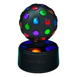 Портативная Bluetooth колонка SG-1507 со светомузыкой и диско-шаром