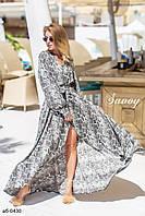 Женское стильное платье макси, фото 1