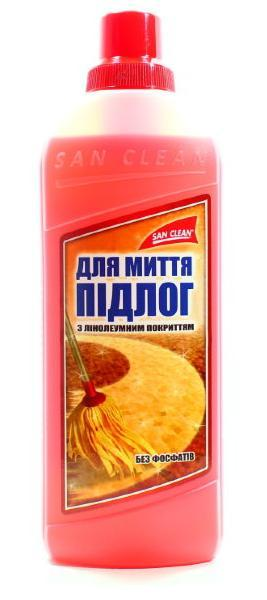 Средство для мытья пола линолеум САН КЛИН, 1 литр