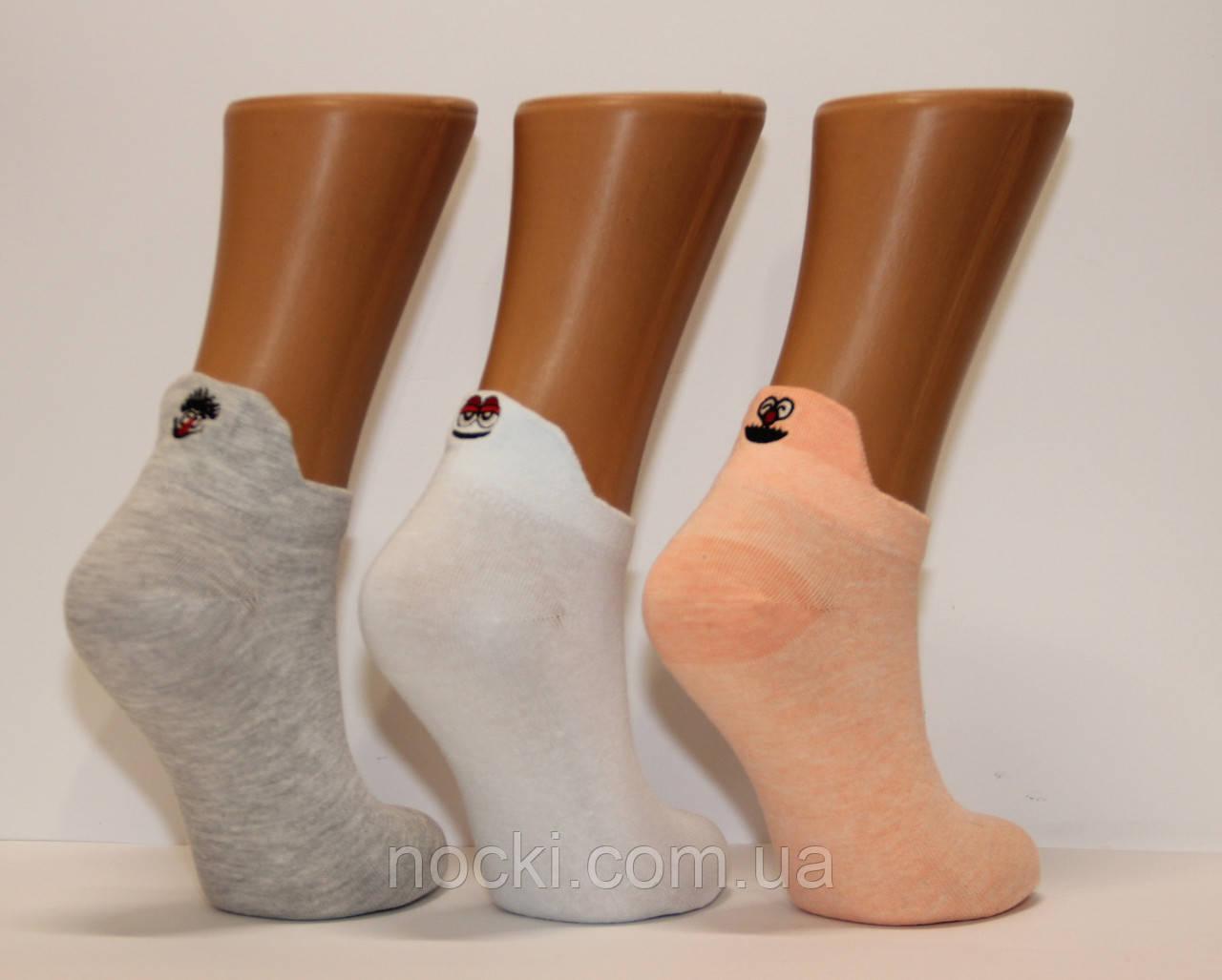 Женские носки короткие с вышивкой Ф3