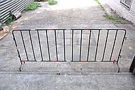 Ограждение 2,5 м со светоотражающей пленкой труба 20мм, фото 1